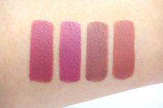 Urban Decay Vice Lipstick in Backtalk, Violate, Oblivion, and Safe Word