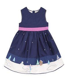 Navy Wonderland Dress - Infant, Toddler & Girls by JoJo Maman Bébé #zulily #zulilyfinds