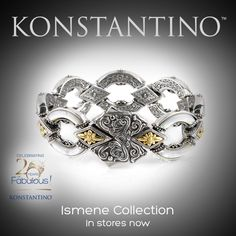 Can't get enough Konstantino designs? Our next 2-day celebrating trunk shows will cheer you up!  October 23-24 Saks Fifth Avenue - Birmingham, AL  October 24-25 Get to know Konstantino at Meierotto Jewelers - Kansas City, MO