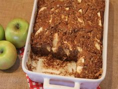 The apples in this gluten free applesauce coffee cake make it moist and delicious. No one will know this is gluten free.