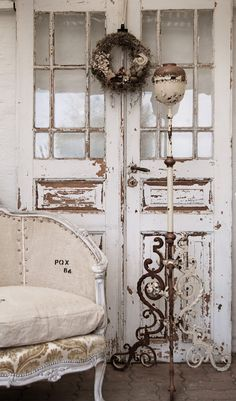 shabby...love the doors!