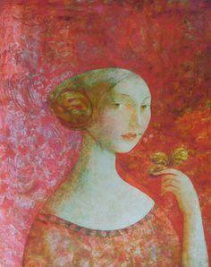 Summer by Olga Simonova  #olgasimonova #contemporaryart #artgallery  Copyright remains with the artist.