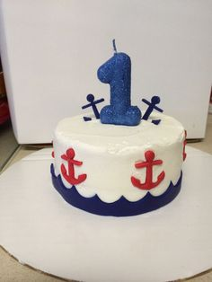 Nautical First Birthday cake Birthdays Pinterest Birthday