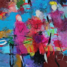 Three Red Dresses Stepping Out Kerri Blackman https://www.etsy.com/listing/221144372/colorful-abstract-figure-painting-blue?ref=shop_home_active_1