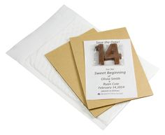 Save The Date Mailing with Chocolate. Available in milk, dark and white chocolate.