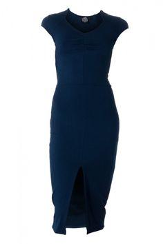 Victoria pencil skirted dress - navy 62,30 GBP via nancy dee