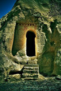 "Ancient ""keyhole"", Turkey"