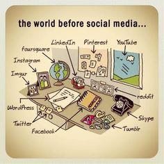 O mundo antes das mídias sociais