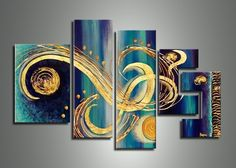 Incredible gallery of large abstract canvas art, abstract wall art paintings and abstract metal wall art; ready to hang, framed modern abstract art paintings Modern Art Paintings, Original Paintings, Oil Paintings, Painting Art, Abstract Canvas, Canvas Wall Art, 5 Piece Canvas Art, Multiple Canvas Paintings, Modern Metal Wall Art