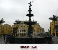 Lima's central plaza is a splendid place for its colonial houses and beautiful cathedral.