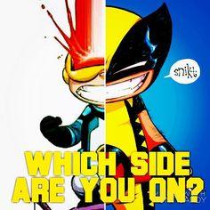 Ciclope vs. Wolverine. De que lado você está na Guerra Civil mutante que é travada no recém-lançado e ótimo O Cisma, pela Salvat? Clique no link da Bio para saber mais. Foto: Montagem sobre arte(s) de Skottie Young (@skottieyoung )  #gibi #gibis #comics #quadrinhos #hq #xmen #xschism #ocisma #ciclope #wolverine #marvel #marvelcomics #cyclops #skottieyoung #guerracivil #civilwar #salvat #snikt