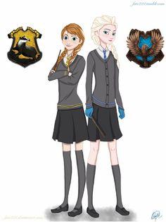 Hogwarts AU: Anna and Elsa by Fate221