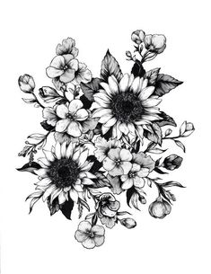wildflower tattoo designs | design tattoos tattoo flower flowers idea drawings tattoo design ... #flowertattoos
