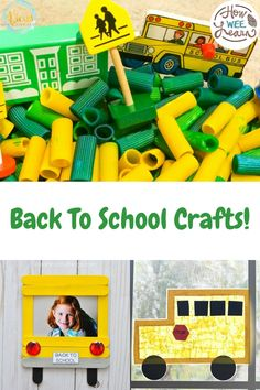 Adorable Fall Back to School crafts for kids to make. These are such cute arts and crafts to get kids excited about heading back to school. There are pencil holder ideas, homemade school picture frames, crafts to make for a backpack, apple crafts - so many ideas! Preschool Arts And Crafts, Creative Activities For Kids, Easy Arts And Crafts, Kids Learning Activities, Craft Projects For Kids, Arts And Crafts Projects, Kid Crafts, Back To School Crafts For Kids, Back To School Art