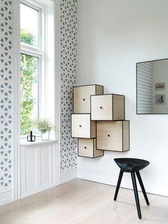 interesting wall furniture, I love this idea.