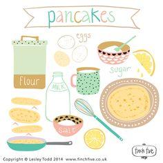 Pancakes     Lesley Todd     www.finchfive.co.uk