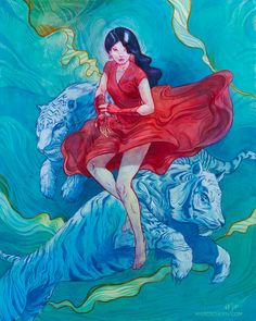 red dress // Amazing Illustrations by Marc Scheff