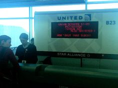 The message that greeted Pittsburgh-bound passengers on their way home from Denver this weekend.. ouch lol.
