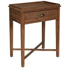 Stained Louise Accent Table (95 CAD) ❤ liked on Polyvore featuring home, furniture, tables, accent tables, drawer table, drawer furniture, storage table, storage furniture and hardware furniture
