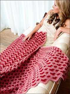 Sweetheart ripple crochet blanket pattern