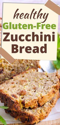 Sugar Free Zucchini Bread, Gluten Free Zucchini Recipes, Sugar Free Bread, Easy Gluten Free Desserts, Healthy Gluten Free Recipes, Sugar Free Recipes, Gluten Free Baking, Healthy Zucchini Bread, Keto Recipes
