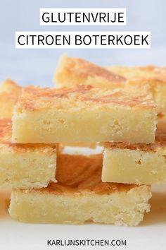 Een simpel recept voor frisse glutenvrije citroen boterkoek! Een heerlijke zomerse boterkoek met citroensap en citroen rasp. Low FODMAP en lactose-arm #FODMAP #glutenvrij #lactosearm #boterkoek #citroenboterkoek
