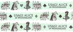 turquoise-white Alice in Wonderland fairy tale Washi Masking Tape deco tape