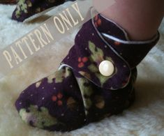 PATTERN & Tutorial for Baby Booties Soft sole shoes with grip 6-12 months