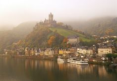 Misty autumn at Cochem and the River Moselle