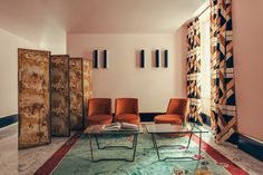Dimore Studio was responsible for the vibrant interiors of the charmingly eclectic Hôtel Saint-Marc. It features vibrant patterns, retro colors and Art Deco details ➤ #hotelsaintmarc #dimorestudio #design #interiors #interiordesign #hotels #luxuryhotels #decorations #hotelsinparis #paris #parisdesign #hospitality #hospitalitydesign #luxurydesign #eclectic #artdeco (Image Credit to Philippe Servent)