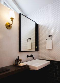 Blue Black Apartment vanity