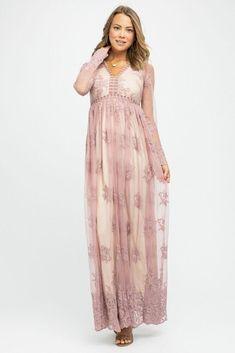 959f92a2e4b Willow Maxi Dress in Mauve