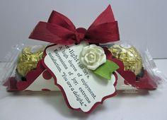 scallop square candy wrapper