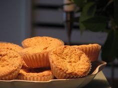 Gluten- og laktosefrie makronkager Lactose Free Desserts, Fodmap Recipes, Vegan, Muffins, Gluten Free, Sweets, Snacks, Breakfast, Diabetes