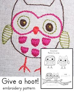 ..owl .embroidery pattern
