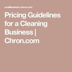 Home or Commercial Cleaning Business Management Excel Spreadsheet ...