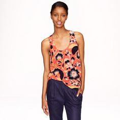 Twist-back top in hibiscus floral - sleeveless - Women's shirts & tops - J.Crew