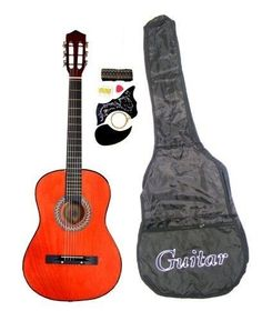 First Acoustic Guitar BROWN Learn Play Country Music Child Band Instrument GIFT #DirectlyCheap