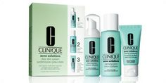 Love this face regime !ACNE SOLUTIONS CLEAR SKIN SYSTEM STARTER KIT found on clinique.com