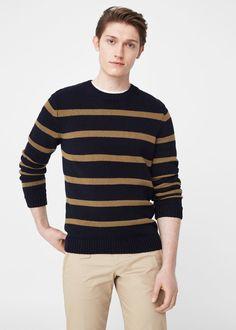 Camisola riscas algodão | MANGO MAN