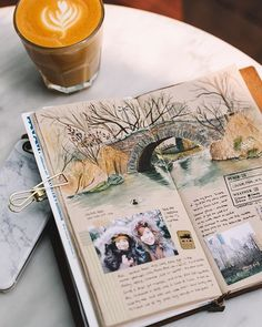 Smash book, art book, illustration, photos, notebook mehr my jour Travel Journal Scrapbook, Travel Journal Pages, Art Journal Pages, Art Journals, Travel Journals, Photo Journal, Journal Ideas Smash Book, Sketch Journal, Drawing Journal