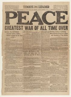 Nov. 11, 1918: Fighting in World War I ended with the signing of an armistice between the Allies and Germany.