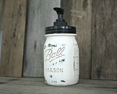 Mason Jar Soap Dispenser - Distressed, Shabby Chic, Country, Cottage Home Decor on Etsy, $15.00