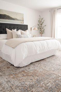Dream Bedroom, Home Bedroom, Bedroom Decor, Calm Bedroom, Bedroom Ideas, Bedding Decor, Master Bedroom, Casual Bedroom, Open Concept Home
