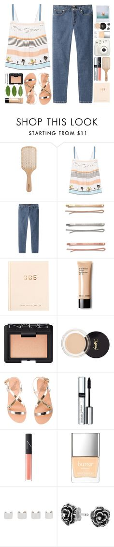 """""""#901 Frankie"""" by blueberrylexie ❤ liked on Polyvore featuring Philip Kingsley, Paul & Joe, A.P.C., Madewell, Bobbi Brown Cosmetics, NARS Cosmetics, Yves Saint Laurent, Ancient Greek Sandals, By Terry and Butter London"""