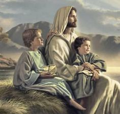 Jesus and children Pictures Of Jesus Christ, Religious Pictures, Bible Pictures, Jesus Christ Painting, Jesus Art, King Jesus, Jesus Is Lord, Christian Images, Christian Art