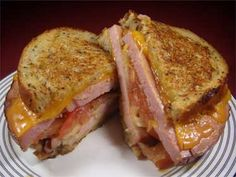 Cap'n Rons: Recipe for Smoked Ham Grilled Cheese, From Leftovers.