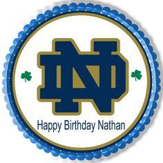 Notre Dame Fighting Irish Edible Birthday Cake Topper