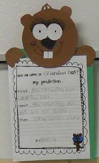 Groundhog Predictions Kindergarten Groundhog Day, Groundhog Day Activities, Kindergarten Writing, Holiday Activities, Writing Activities, February Holidays, School Holidays, School Fun, School Ideas