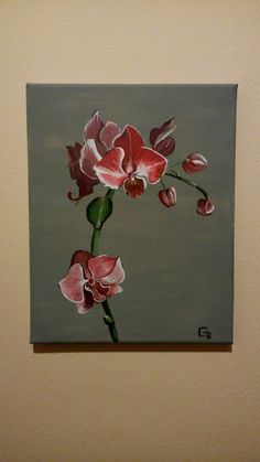 #Orchid #Acrilyc paint Orchids Painting, Acrylic Resin, Art Drawings, Scene, Watercolor, Canvas, Acrylics, Paintings, Oil